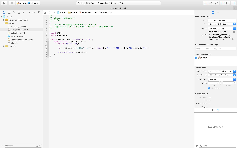 Framework code usage