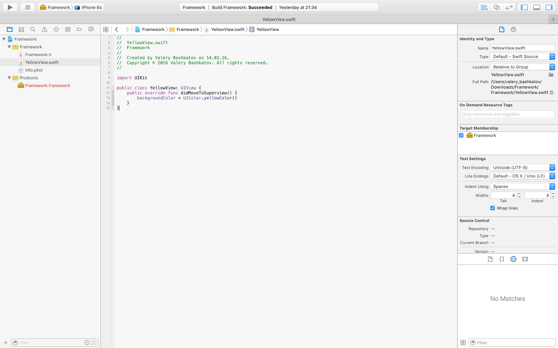 Framework sample code